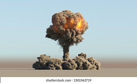 Nuclear explosion 3d illustration