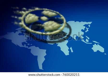 Nuclear fallout radioactive cloud