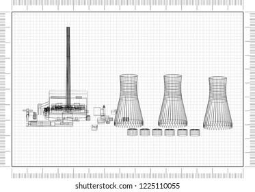 Power Plant Blueprints Images Stock Photos Vectors Shutterstock