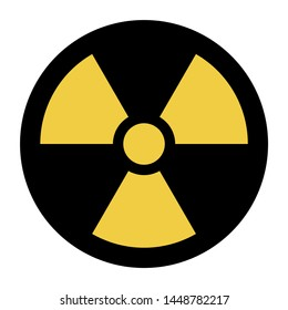 Nuclear symbol icon with a white background