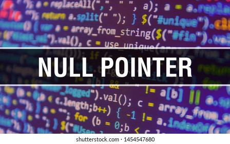 Null pointer with Abstract Technology Binary code Background.Digital binary data and Secure Data Concept. Software