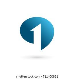Number one 1 logo icon design stock vector royalty free 335214950 number 1 speech bubble logo icon design template elements maxwellsz