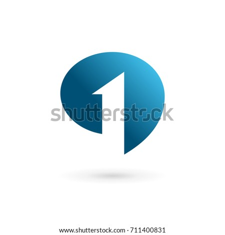 number 1 speech bubble logo iconのイラスト素材 711400831 shutterstock
