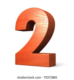 Number 2 from redwood alphabet. There is a clipping path