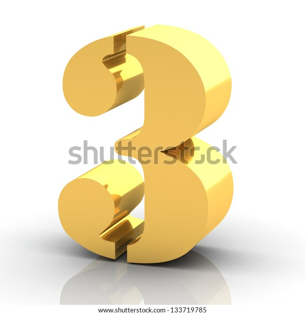 The Number 3- Gold