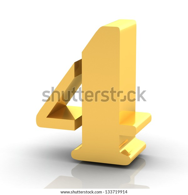 The Number 4 - Gold