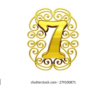 number seven letter as golden initial