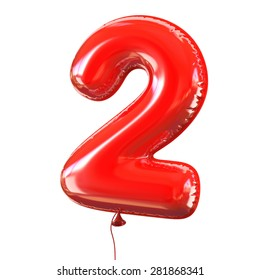 number two - 2 balloon font