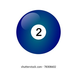 Number two billiard ball