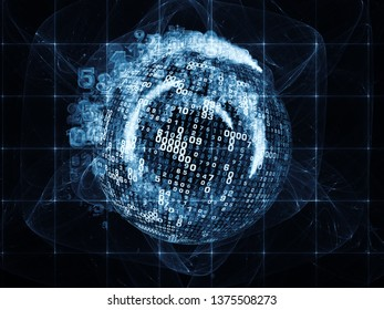 Number World series. Arrangement of digits and fractal elements on the subject of  science, education and modern technology