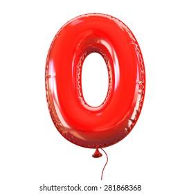 number zero - 0 balloon font