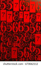 Numbers 6,7,8,9 lmage background