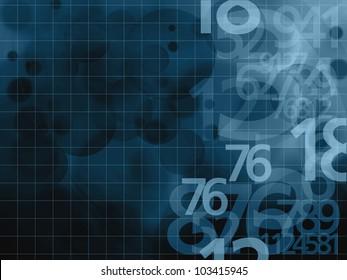 numbers dark blue background illustration