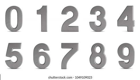 Numbers on white background. Isolated 3D illustration