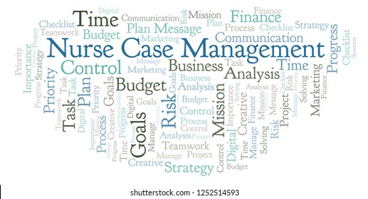 Nurse Case Management word cloud, made with text only.