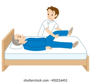 nursing care to elderly man