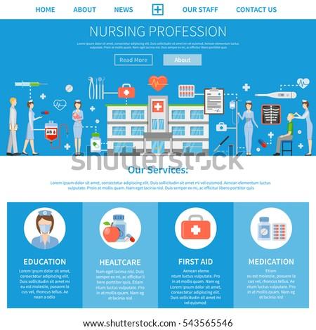 nursing profession advertising layout presentation nurseのイラスト