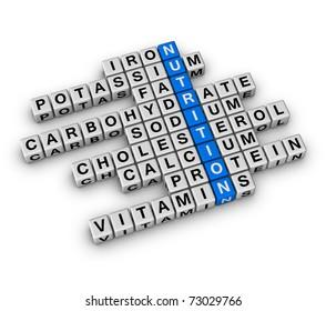 Nutrition Ingredient (cubes crossword)