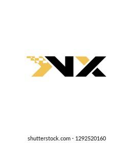 Nx letter design logo