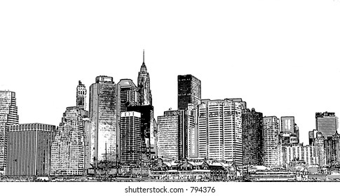 NYC Illustration Panorama