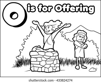 O is for Offering Coloring Activity