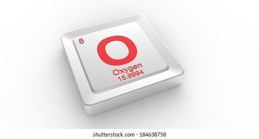 O Symbol 8 Material Oxygen Chemical Stock Illustration Royalty