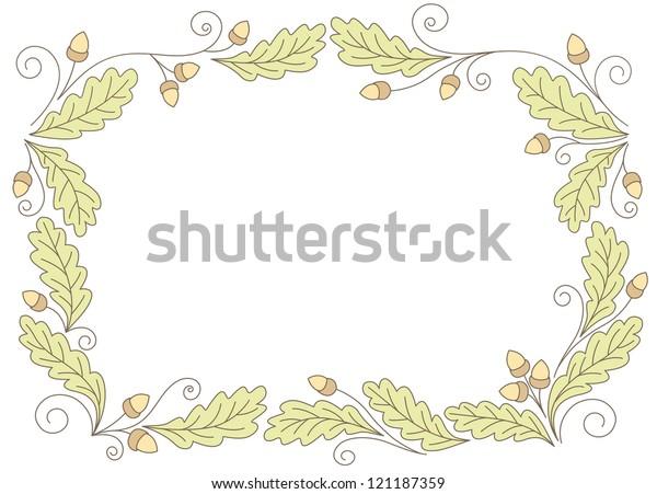 oak leaf ornament stock illustration 121187359 https www shutterstock com image illustration oak leaf ornament 121187359