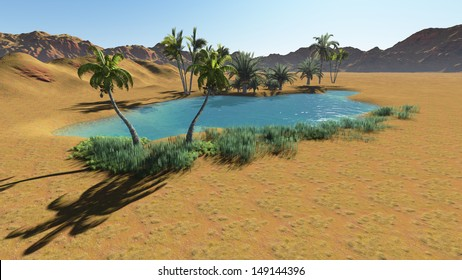 Image result for images of oasis in desert