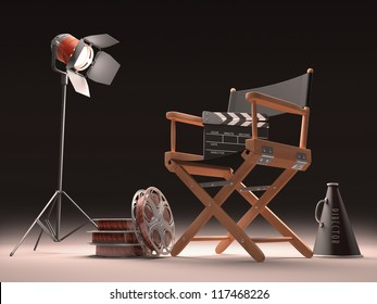 Objects of the film industry, the concept of cinema.