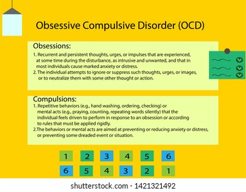 Obsessive Compulsice Disorder or OCD explantion or infographic