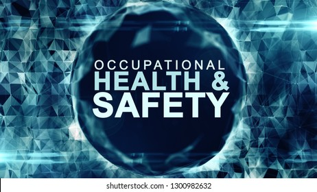 Occupational health and safety safe work place WHS HSE OSH 3D title - illustration render