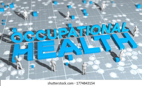 Occupational safety and health, (WHS) (HSE) (OSH) also commonly referred to as occupational health and safety, occupational health, or workplace health and safety - 3D Illustration Render