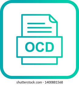 OCD File Document Icon In Trendy Style Isolated Background