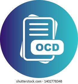OCD File Format Icon  For Your Project