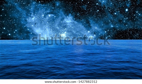 ocean galaxy wallpaper hd 1080p 600w 1427882312