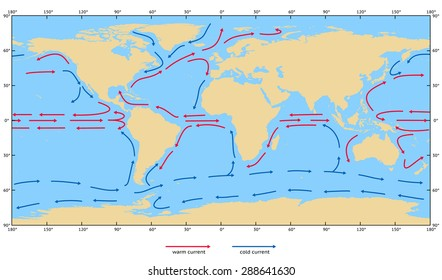 Ocean currents images stock photos vectors shutterstock ocean surface currents elements of this image furnished by nasa gumiabroncs Choice Image