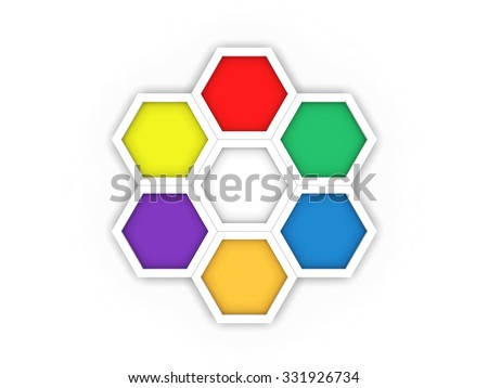 Octagon Template | Octagon Template Layout Business Stock Illustration 331926734