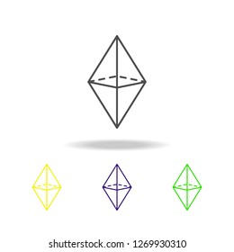 octahedron colored icon. Can be used for web, logo, mobile app, UI, UX