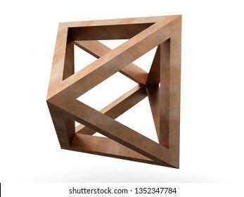 Octahedron, Leonardo da Vinci. 3D model.