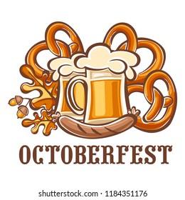 Octoberfest holiday icon. Cartoon of octoberfest holiday icon for web design isolated on white background