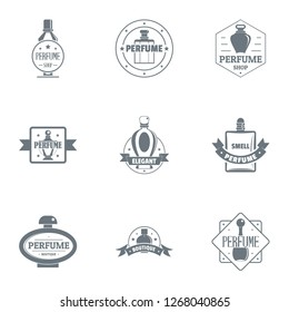Odour logo set. Simple set of 9 odour logo for web isolated on white background
