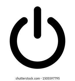 Off power  icon isolated on abstract background