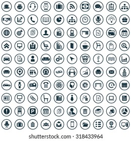 office 100 icons universal set for web and mobile