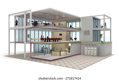 office building cutaway