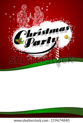 Office Christmas Party Poster Background Space Stock Illustration