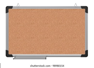 Office magnetic board. The material is cork. 3d rendering