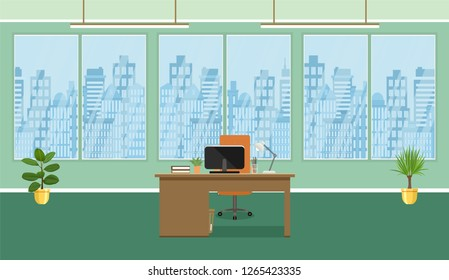Cartoon Background Office Images Stock Photos Vectors Shutterstock