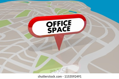 Office Space Building Workplace Map Pin 3d Illustration