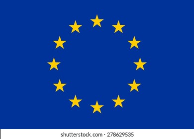 Official Flag of the European Union Flat Large Size Horizontal