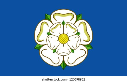 Official flag of Yorkshire Country in England.